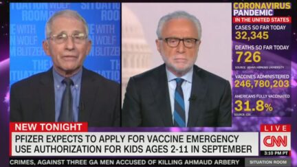 Fauci with CNN's Wolf Blitzer