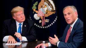 Trump and Greg Abbott meeting