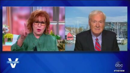 Chris Matthews and Joy Behar on The View