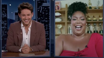 Lizzo and Niall Horan on Kimmel