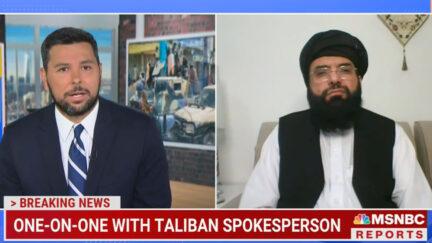 Ayman Mohyeldin Confronts Taliban Spokesman
