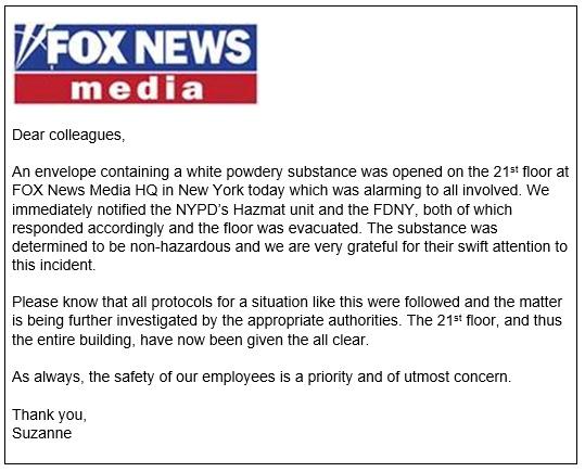 Fox News Memo
