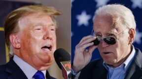 Donald Trump Joe Biden Split Getty Images
