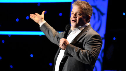 Patton Oswalt performing at International Myeloma Foundation 13th Annual Comedy Celebration benefiting the Peter Boyle Research Fund & supporting the Black Swan Research Initiative