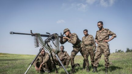 Ethiopian National Defense Forces soldiers