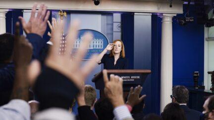 White House Press Secretary Jen Psaki Holds Daily Briefing At White House