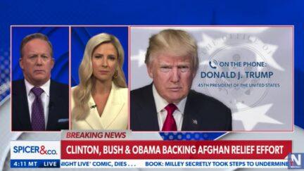 Donald Trump calls into Newsmax