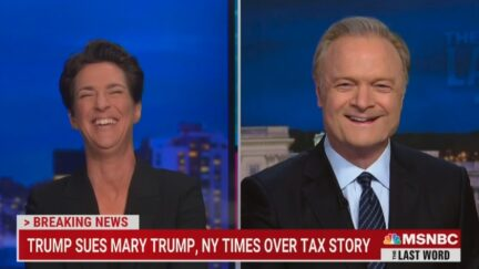 Rachel Maddow and Lawrence O'Donnell laugh at mistake in Trump's lawsuit