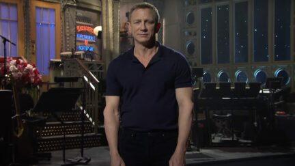 Daniel Craig introducing the Weeknd on SNL