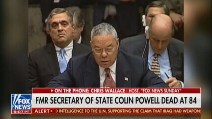 Chris Wallace reacting to Colin Powell's death