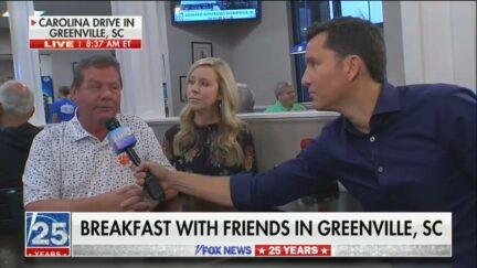 Fox & Friends Diner say Lets go Brandon