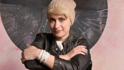 Halyna Hutchins, cinematographer fatally shot by Alec Baldwin's prop gun, at the SAGindie Sundance Filmmakers Reception