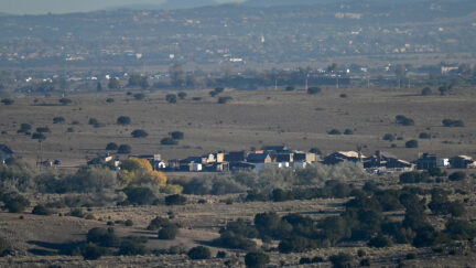 Rust film set in Santa Fe, New Mexico
