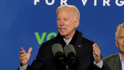 Joe Biden Rips Trump at McAuliffe Rally for Attacking Colin Powell