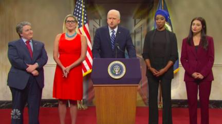 Saturday Night Live cast mocks infrastructure negotiations