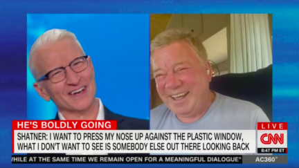 Anderson Cooper and William Shatner