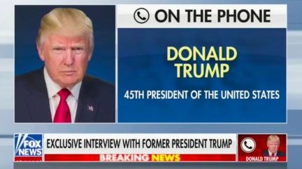 Donald Trump on phone interview with Sean Hannity