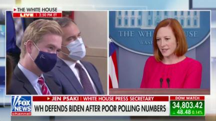 Peter Doocy asks Jen Psaki about Biden's polling