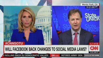 CNN's Dana Bash interviews Facebook's Nick Clegg