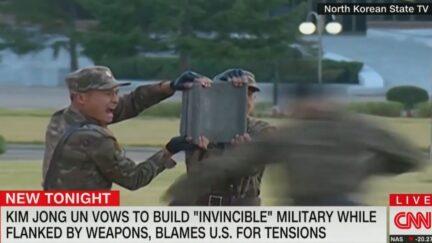 North Korea military drill
