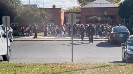 Student walk-out at Broad Run High School in Loudoun County, VA, on Oct. 26