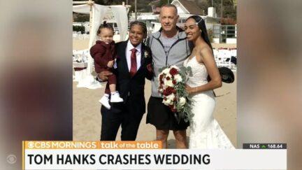 Tom Hanks Surprises Couple at Santa Monica Wedding