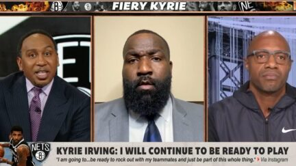 Stephen A. Smith gets in shouting match over Kyrie Irving's vaccine decision