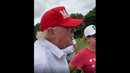 Trump FaceTimes with Bryson DeChambeau